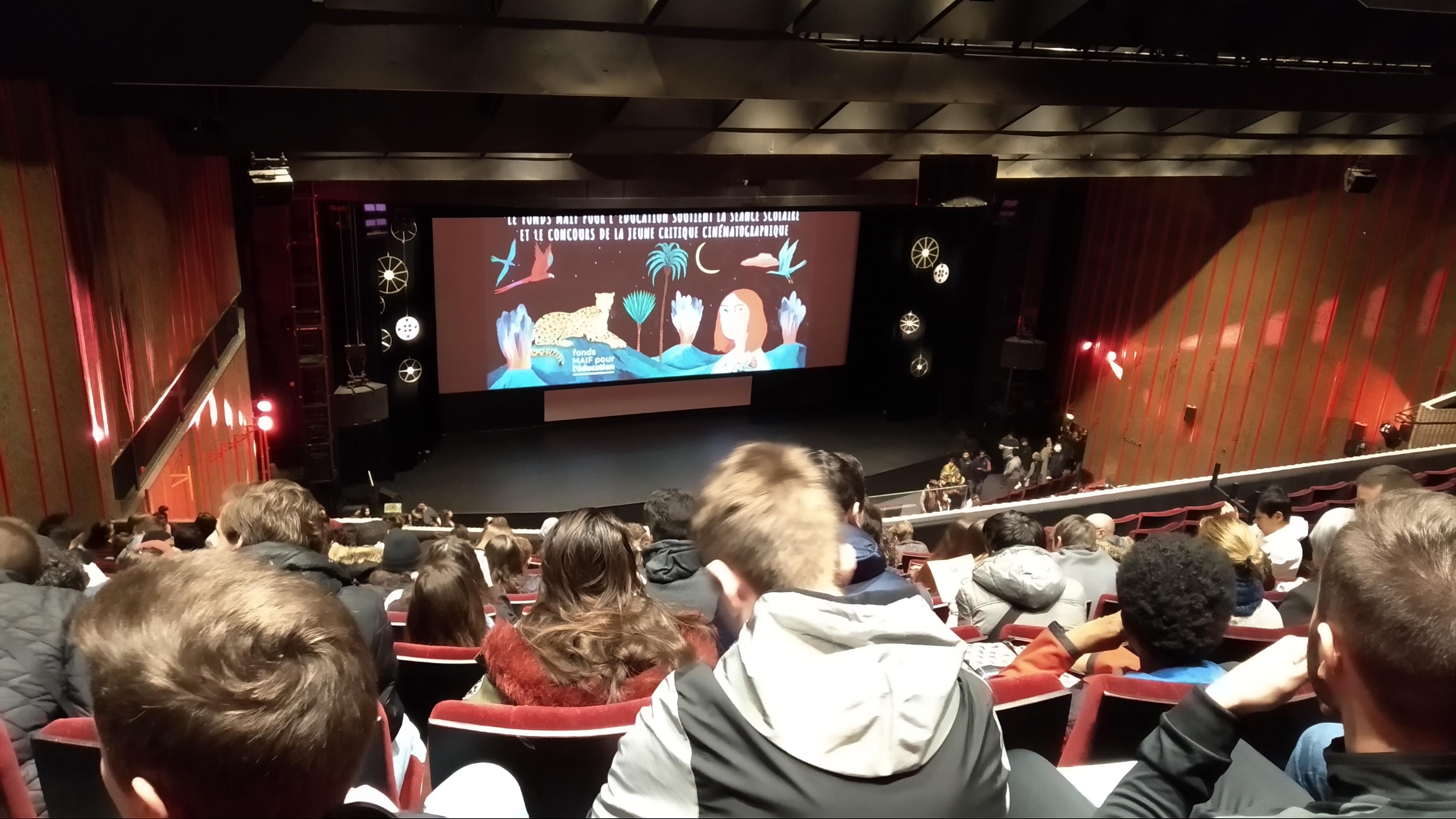Les lycéens au Festival du court-métrage